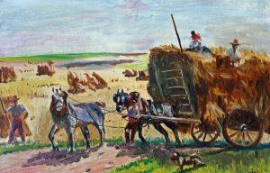 Høst fatter hestevogn